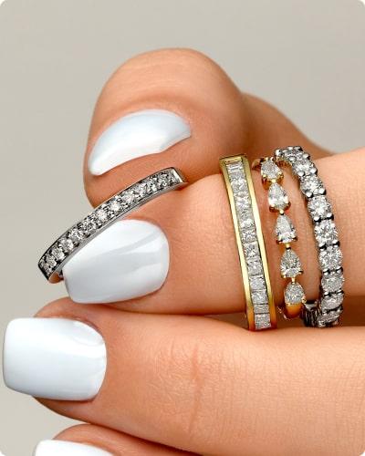 טבעות טבעות יהלומים